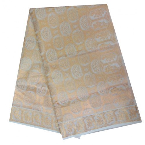 Kuthampully Special Tissue Embose Check  Design Kasavu Saree