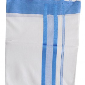 Blue Jari Double Mundu