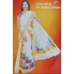 Kerala Settu Mundu Rhombus Patch design