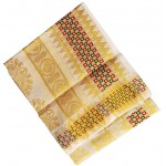 Traditional Checked Border Kerala Kasavu Saree