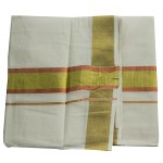 Kerala Color Jari Double Mundu