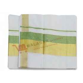 Kerala Green Border Kasavu Saree