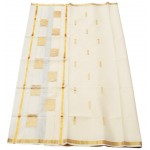 Kerala Kasavu Saree with Golden Jari