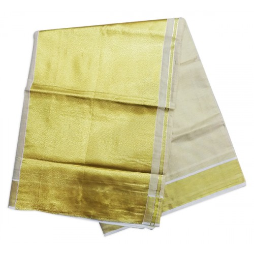 Onam Special Big Border Kerala Settu Tissue Saree