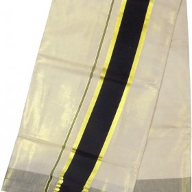 Kerala Kasavu Saree Tissue Black