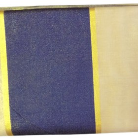 Kerala Tissue Saree With Dark Blue Kara