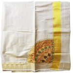 Kerala Patch and Beats Design Kasavu Saree