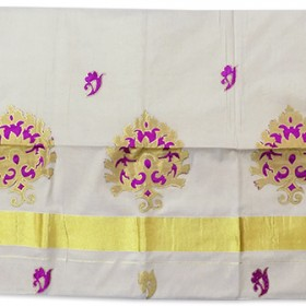 Kerala Patch tissue Kasavu Saree