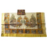 Kerala Rich Mural Design Kasavu Saree