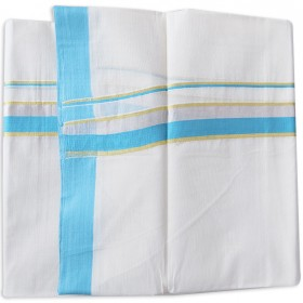 Kerala Silver Bleach Double Mundu