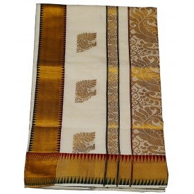 Kerala Traditional Temple Design Kasavu Saree