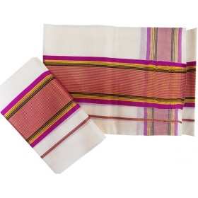 Kerala Striped Kasavu Mundu