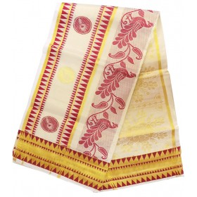 Kerala Temple Design Settu Saree