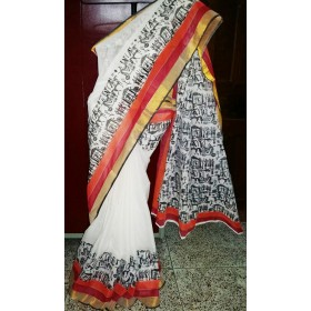 Theme Handpainted Kerala Saree