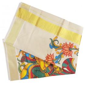 Kerala Tissue Kasavu Saree