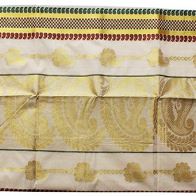 Kerala Traditional Golden Brocade Kasavu Saree