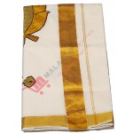 Kuthampully Aalila Kannan Patch Design Kasavu Saree