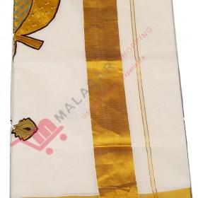 Kuthampully Aalila Kannan Patch Design Kasavu Saree