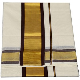 Kerala Simple Kasavu Saree