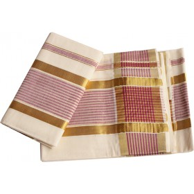 Kerala Traditional Striped settu Mundu