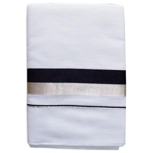Silver Black Kerala Dhoti