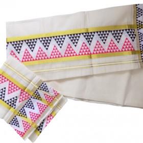 Kerala Kasavu Settu Mundu Simple Design