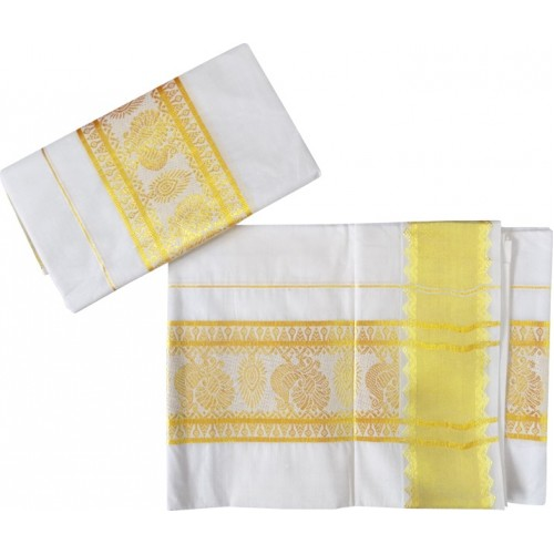 Special Kuthampully Kerala Kasavu Settu Mundu