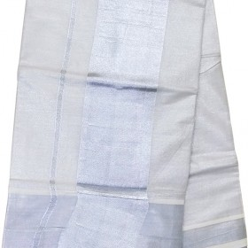 Onam Special Silver Tissue Saree