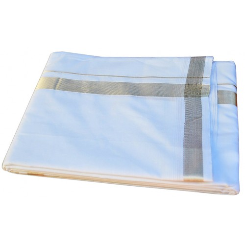 Kerala Silver Wedding Double Mundu