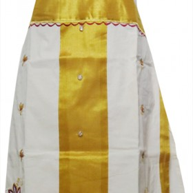 Kerala Tissue Kasavu Churidar