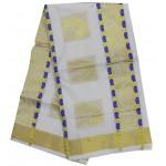 Kerala simple Color Butta Kasavu saree