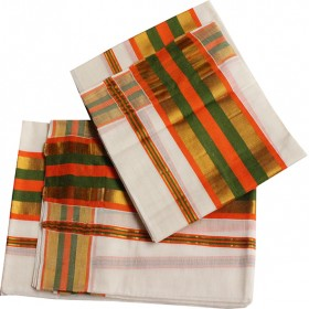 Kerala Traditional Big Border Kasavu Mundu
