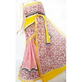Full Floral Hand Painted Kerala Saree