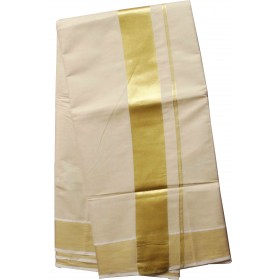 Full Tissue kasavu Saree With Golden Border
