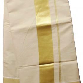 Full Tissue kasavu Saree With Golden Border
