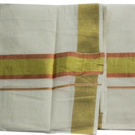 Kerala Color Jari Double Mundu