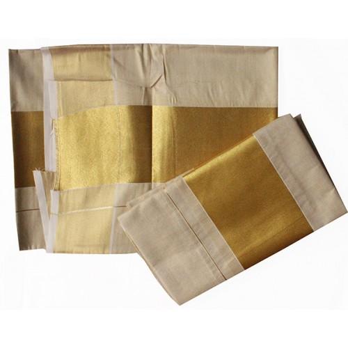 Kerala Tissue Kasavu Settu Mundu