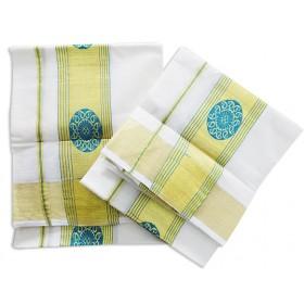 Kerala Jari Design Kasavu Mundu