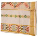 Kerala Fabric Paint Design Kasavu Saree