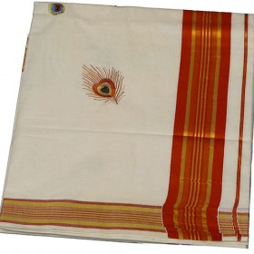 kerala kasavu saree with Vennakannan Design