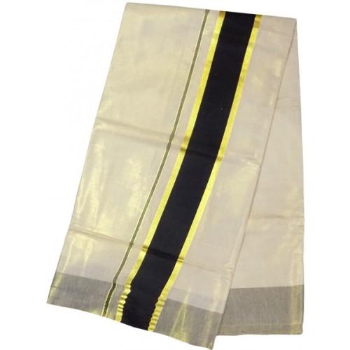 Kerala Kasavu Saree Tissue Black