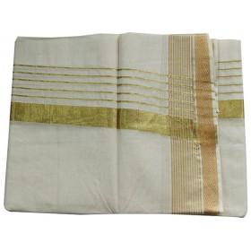 Kerala Traditional Big Border Kasavu Double Mundu