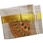 Kerala Patch and Beats Design Kasavu Saree