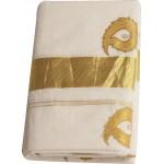 Kerala Traditional Patch Design Kasavu Mundu