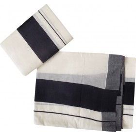 Kerala Set Mundu with Plain Black Border