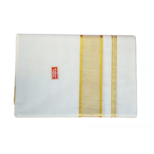 Kerala Special Mundu With Golden Kasavu