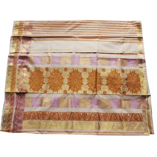 Kerala Trendy Striped Kasavu saree