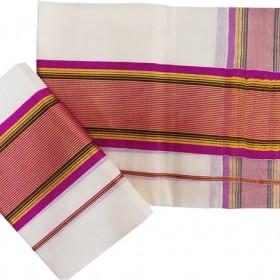 Kerala Striped Kasavu Mundu