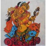 Devi Mural Design Tissue Kasavu Saree