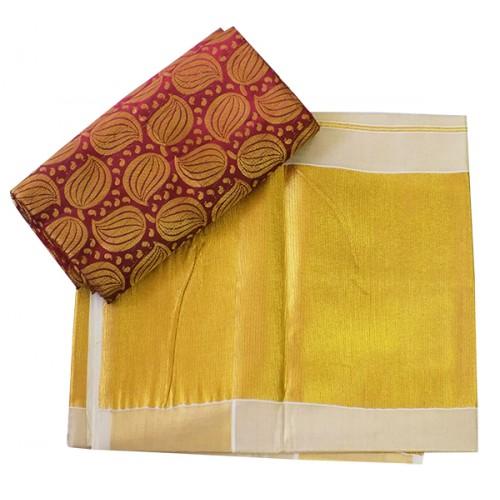 Kerala Big Zari Kasavu Saree